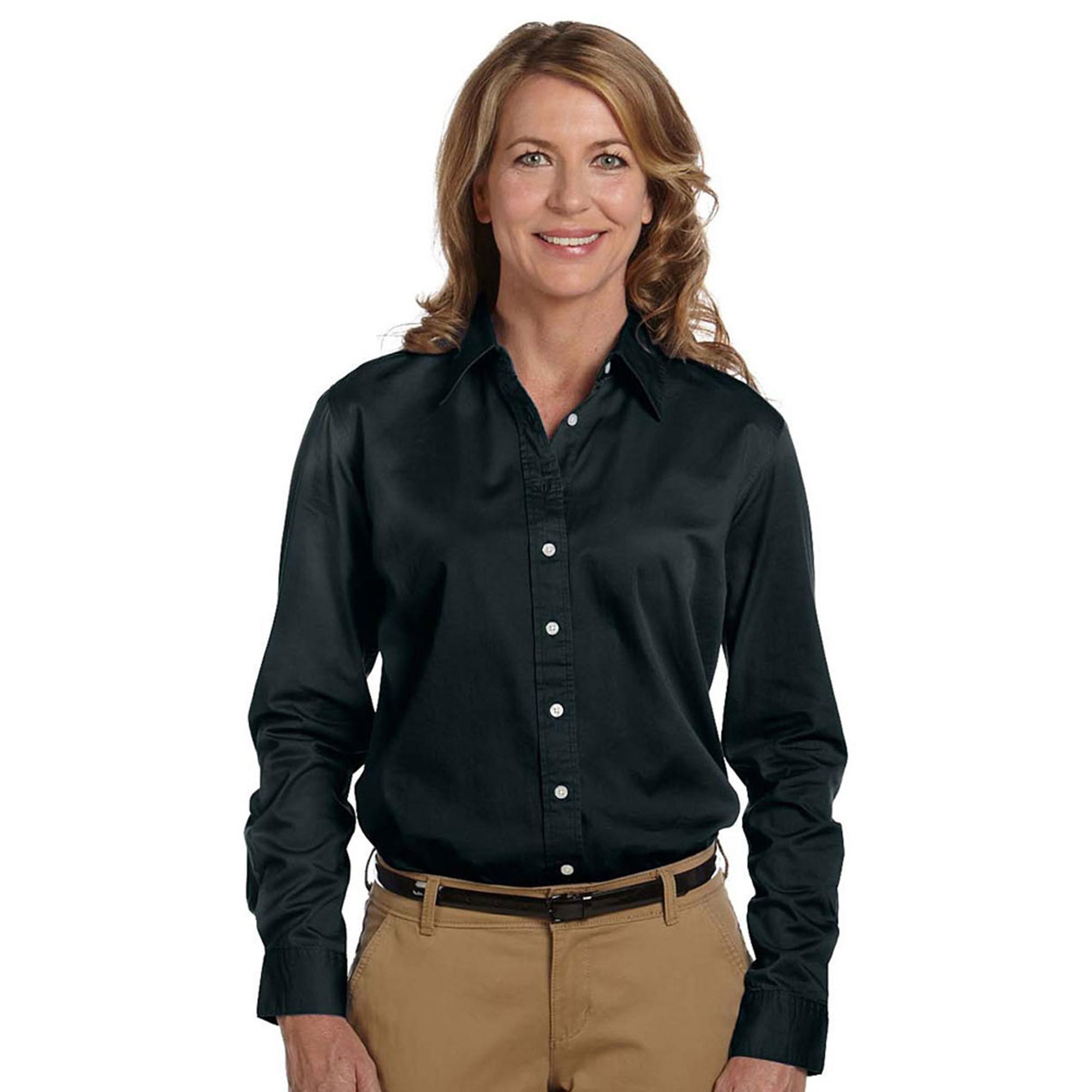 Chestnut Hill CH500W Women's Soft Spread Collar Twill Shirt at Sears.com