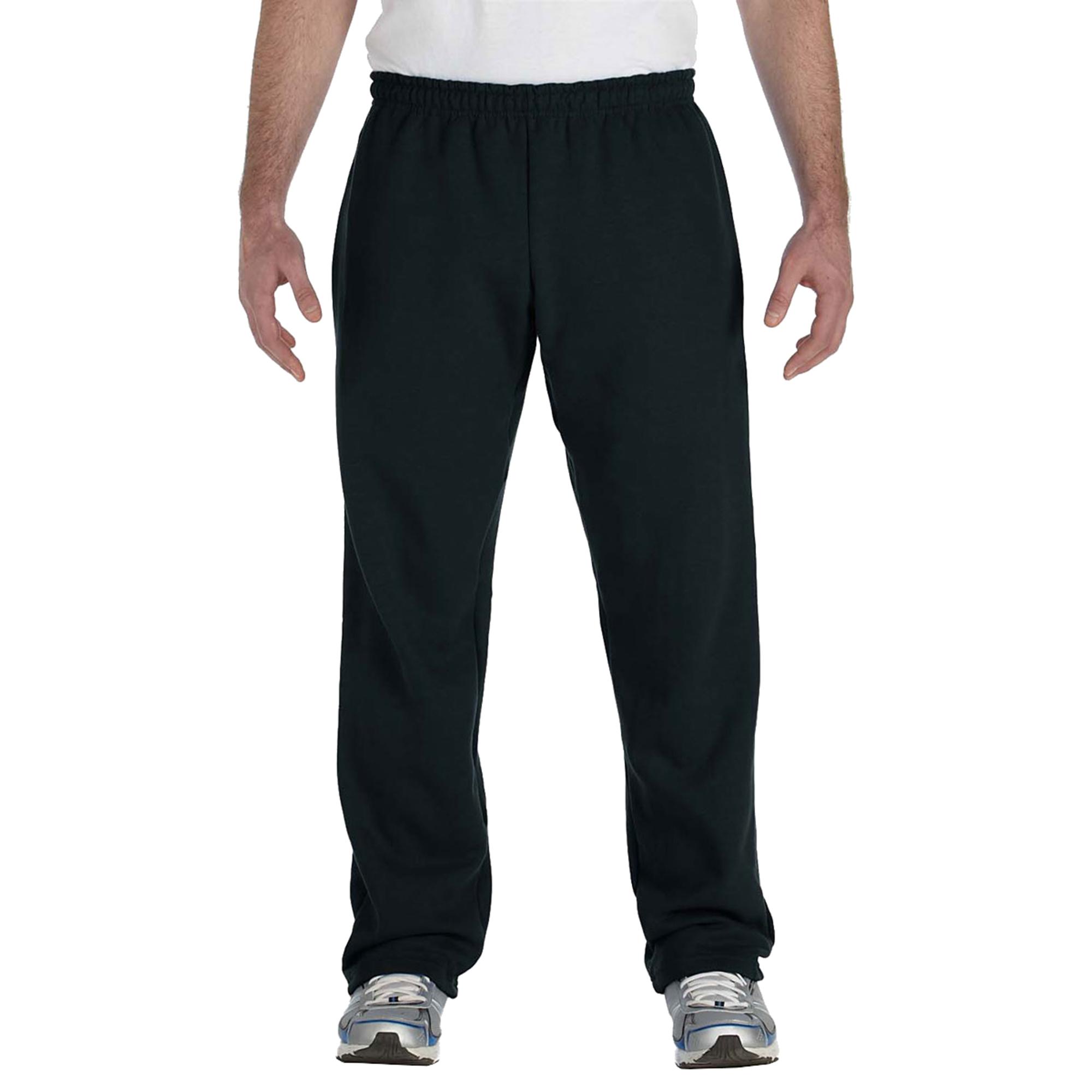 Gildan G184 Men's Heavy Blend Elastic Waistband Open-Bottom Sweatpant