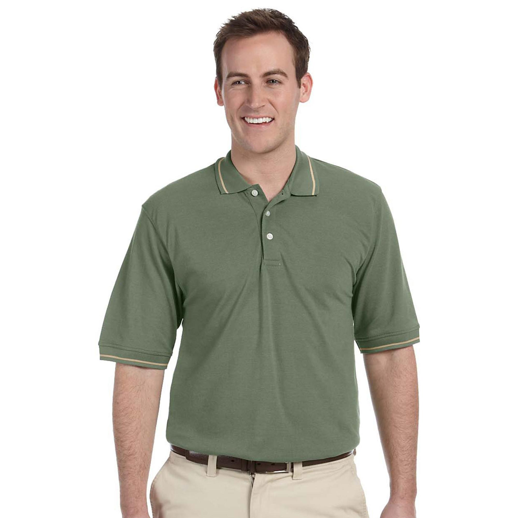 Harriton M270 Men's Knit Collar Button Polo Shirt at Sears.com