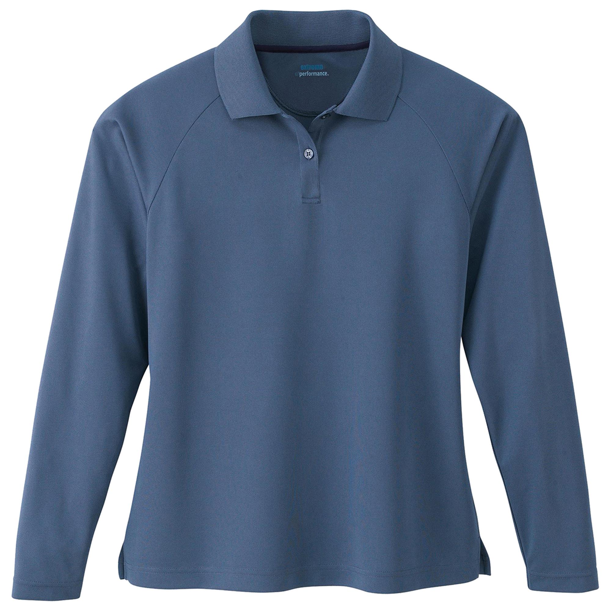 Extreme 75061 Women's Long Sleeve Knit Collar Polo Shirt