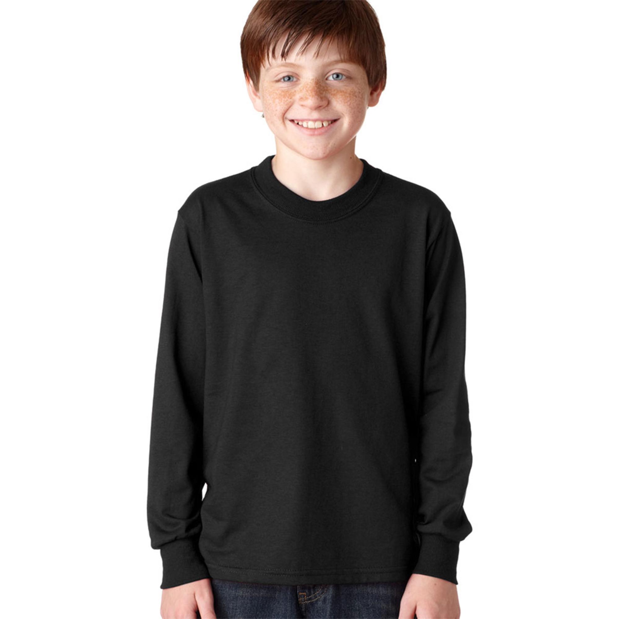 Jerzees 29BL Boy's Heavyweight Long Sleeve Blend T-Shirt at Sears.com