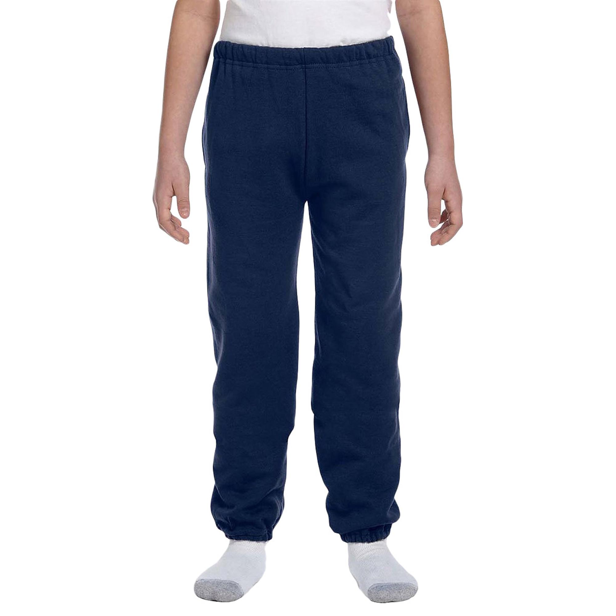 Jerzees 4950B Boy's Elastic Waistband Fleece Pockets Sports Jersey Sweatpants at Sears.com
