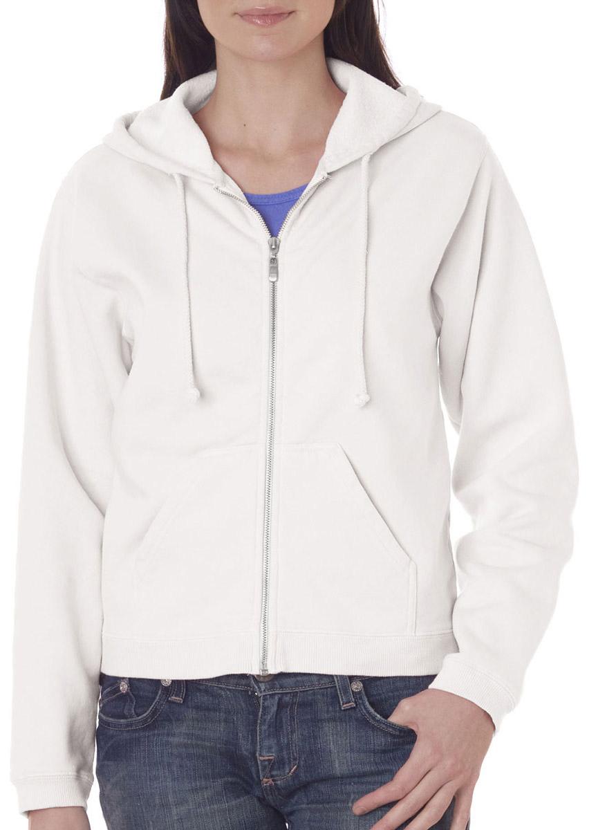 Chouinard 1598 Women's Metal Zipper Front Pouch Pockets Hooded Sweatshirt at Sears.com