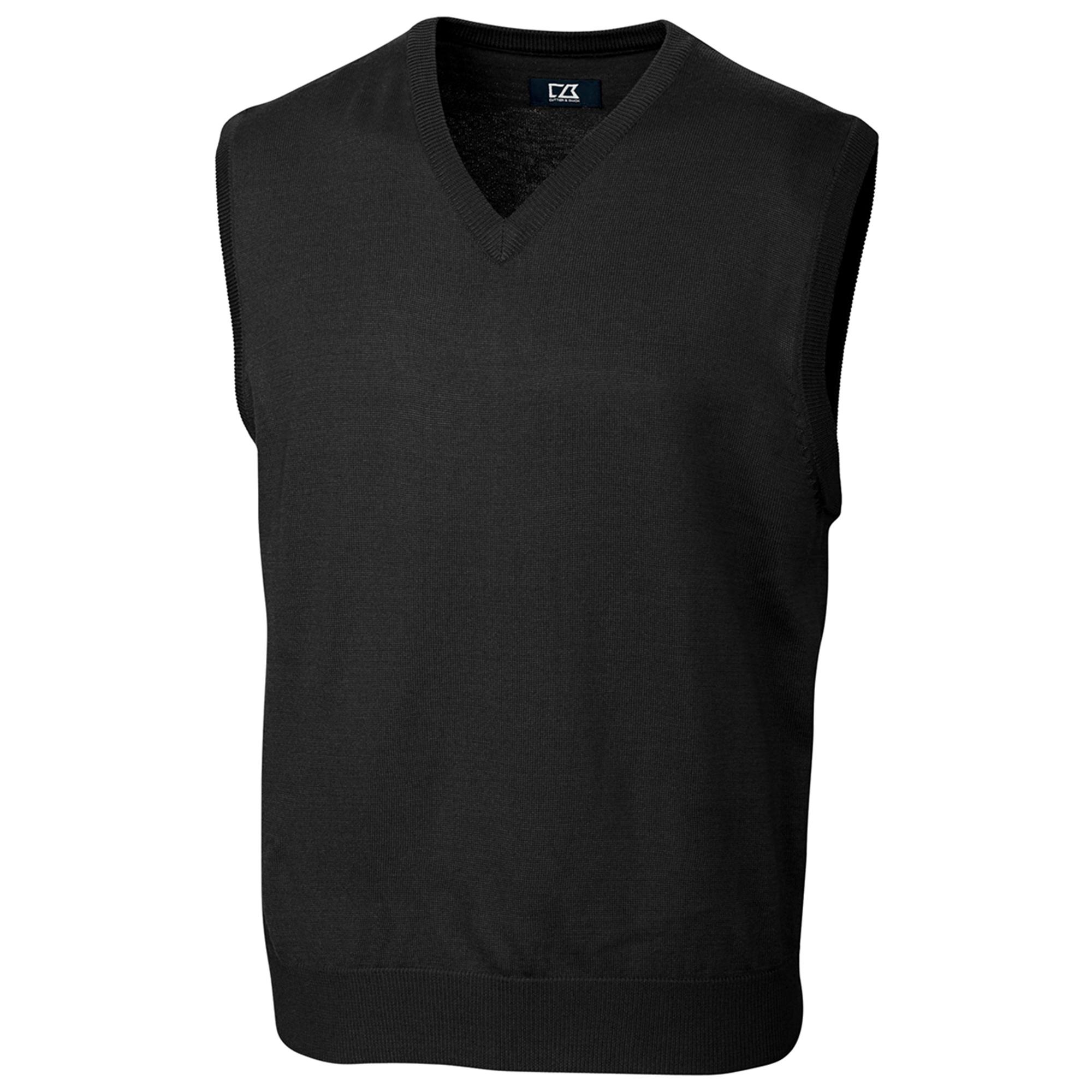 Cutter and Buck BCS01432 Men's V-Neck Rib Collor Jersey Vest