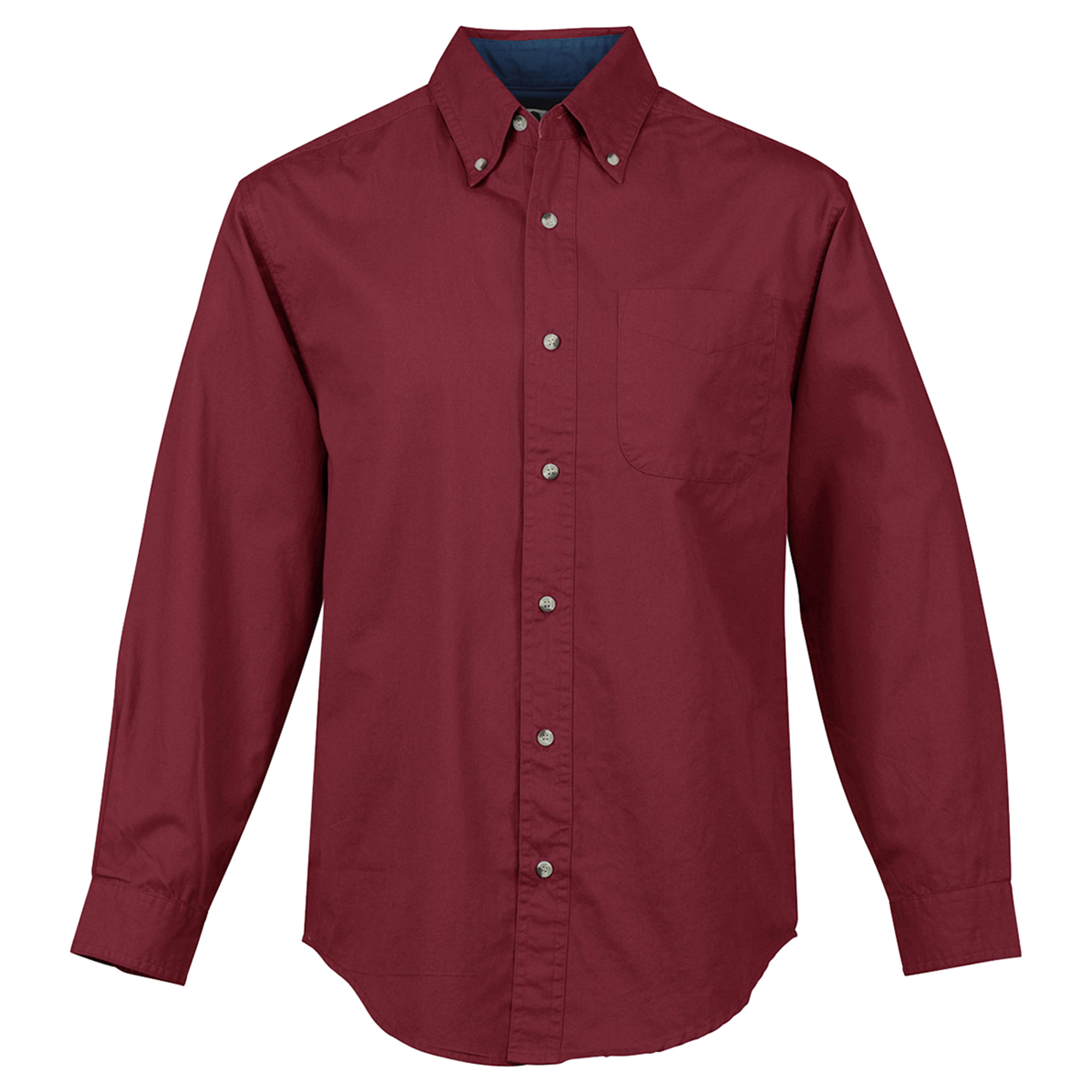 Tri mountain men 39 s big and tall button down collar woven for Tall collar dress shirts