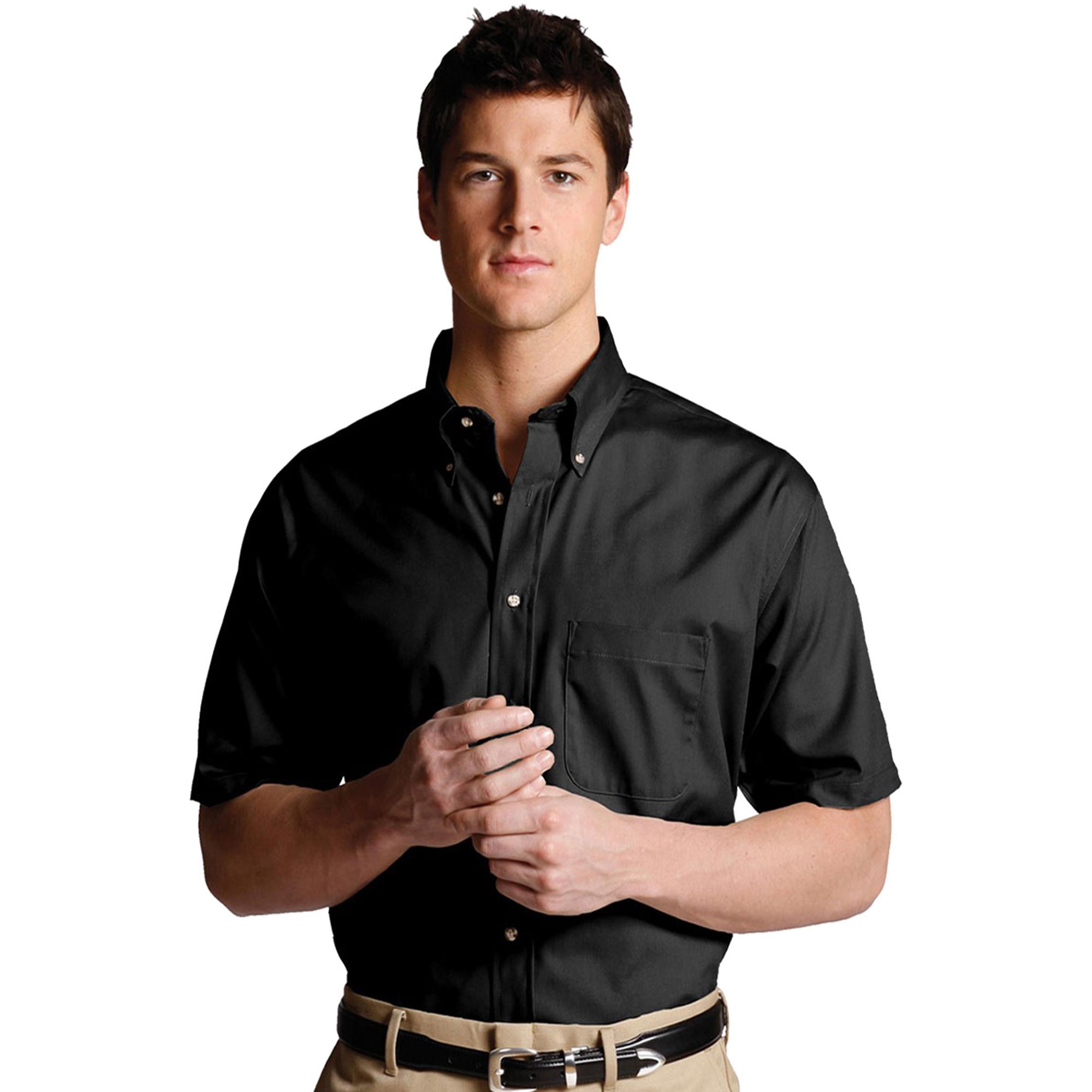 Edwards 1230 Men's Big And Tall Button Down Collar Poplin Shirt at Sears.com