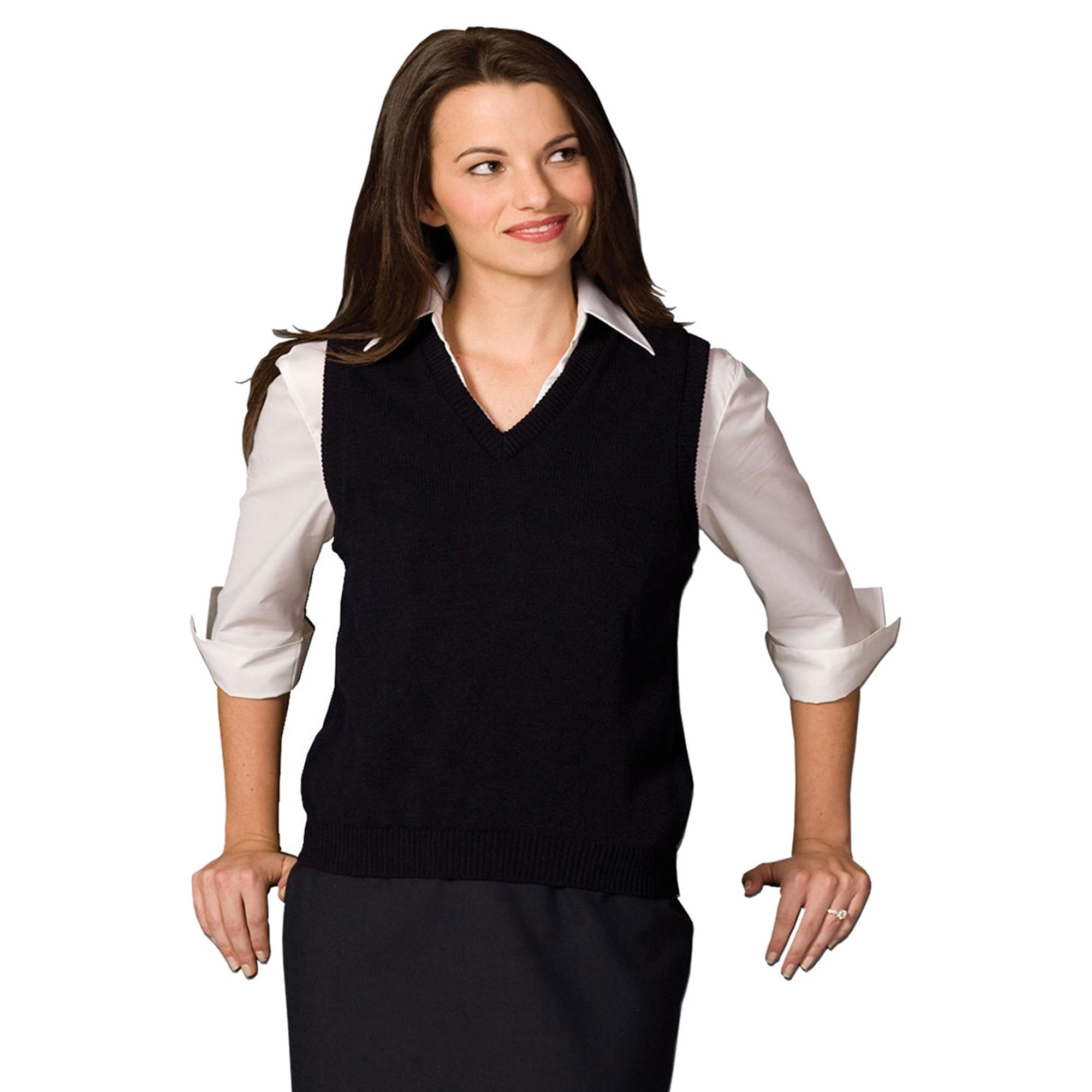 Edwards 461 Women's Colorfast V-Neck Sweater Vest