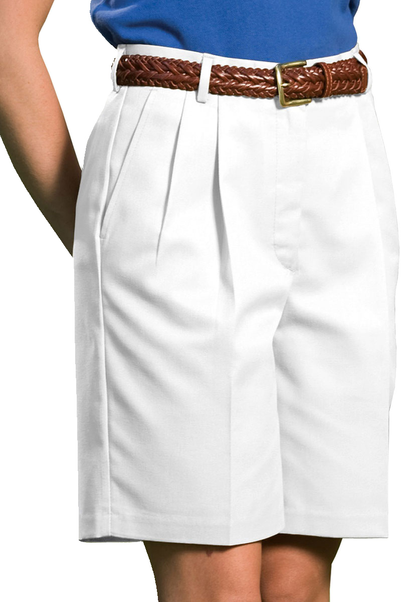 Edwards 8419 Women's Moisture Wicking One Back Pocket Pleated Chino Zipper Short at Sears.com