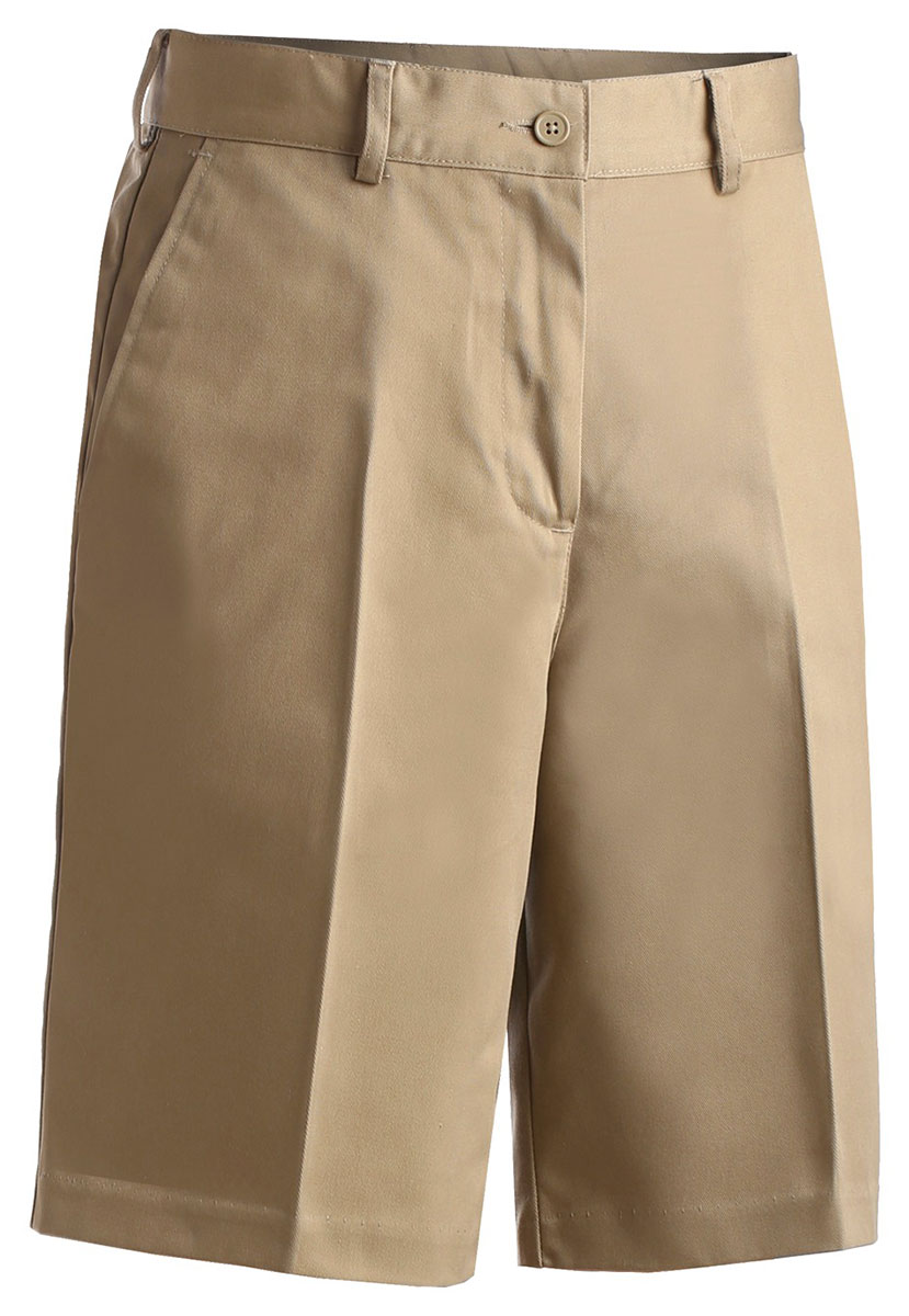 Edwards 8465 Women's Flat Front Brass Zipper Wrinkle Resistant Chino Blend Short at Sears.com