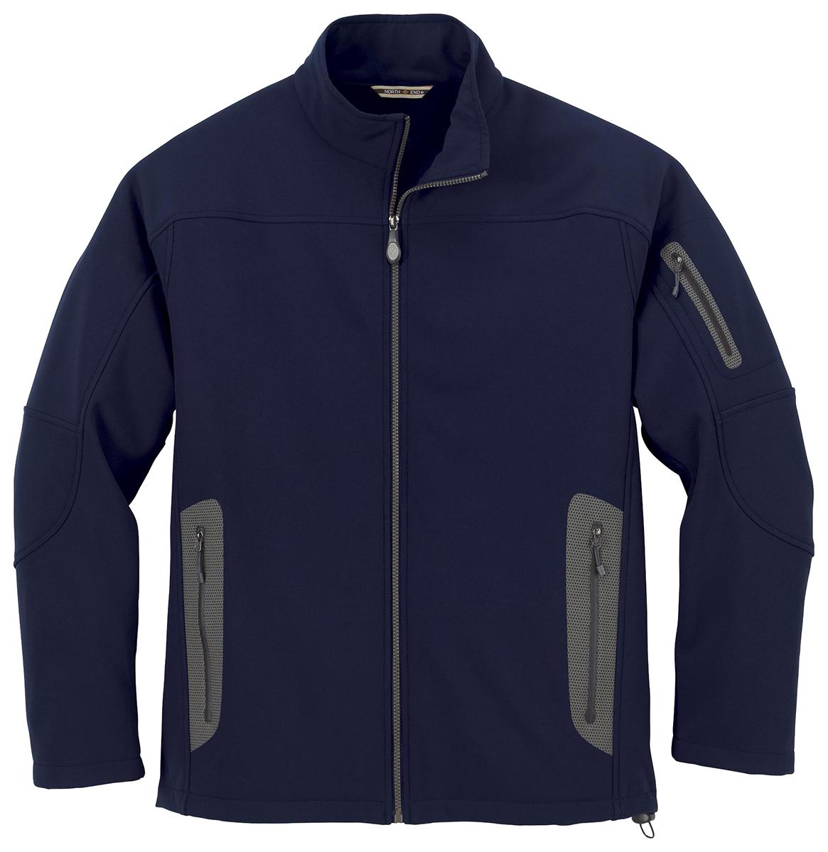 ClscNvy 4X North End Mens Soft Shell Hood Jacket