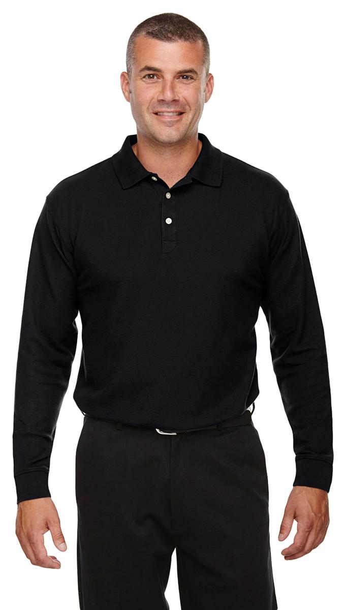 Devon Jones Mens Drytec20 Performance Long Sleeve Polo Shirt