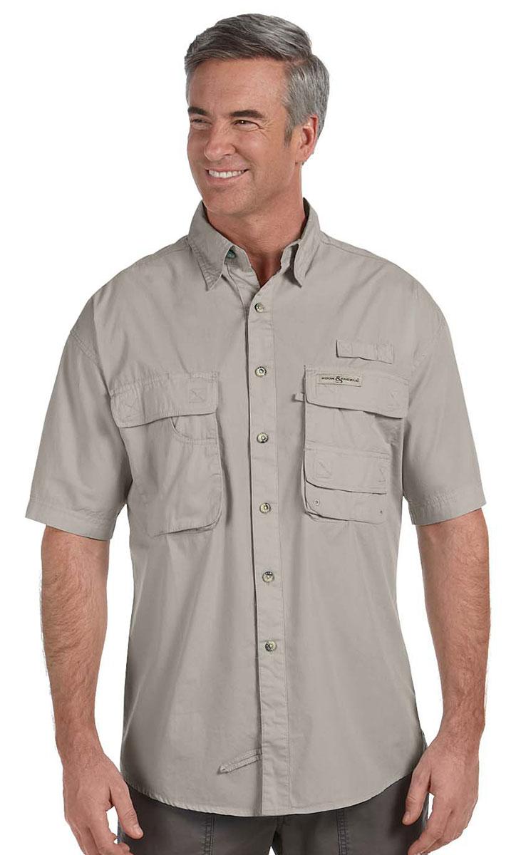 Hook tackle men 39 s button down collar gulf stream fishing for Button down fishing shirts