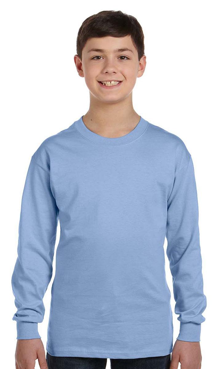 Hanes Tagless Boy/'s Long-Sleeve T-Shirt 5546 FREE SHIPPING!