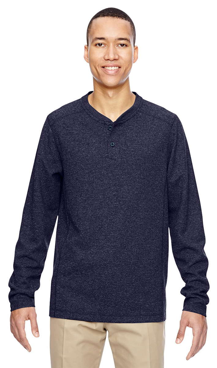 North end men 39 s moisture wicking long sleeve henley for Mens moisture wicking sleeveless shirts