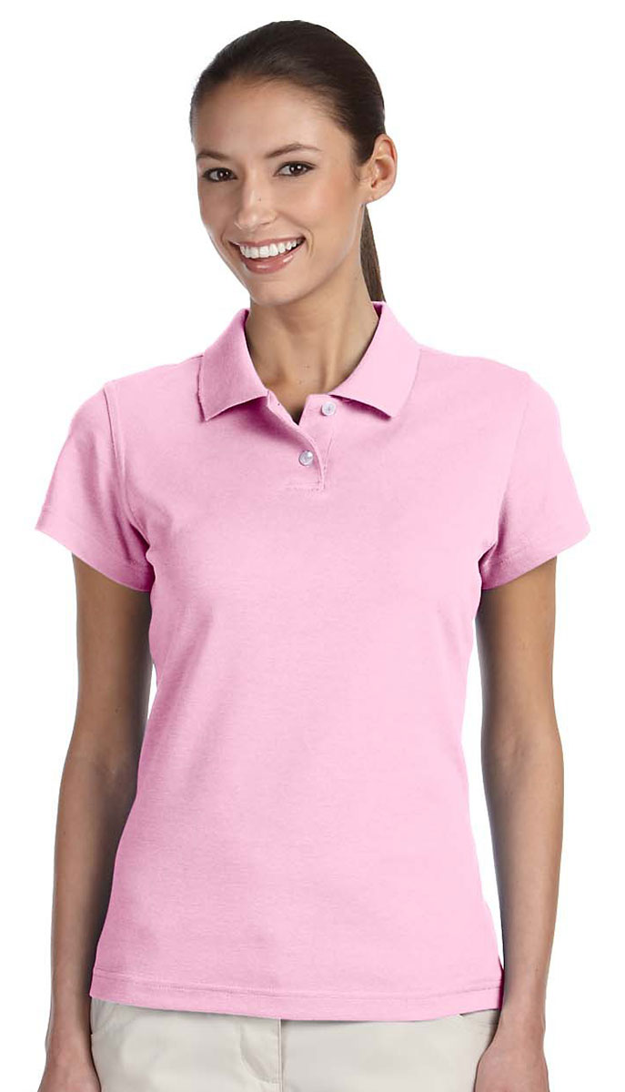 Adidas Golf Shirt A85 Solid Womens Climalite Pique Polo S Pale Pink