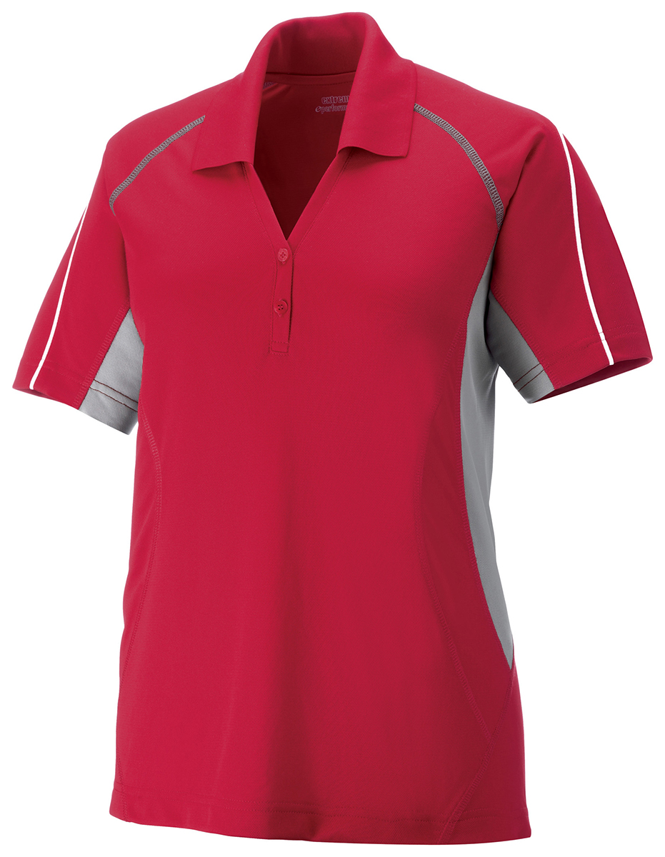 Extreme Womens Moisture Wicking Short Sleeve Polyester Polo Shirt