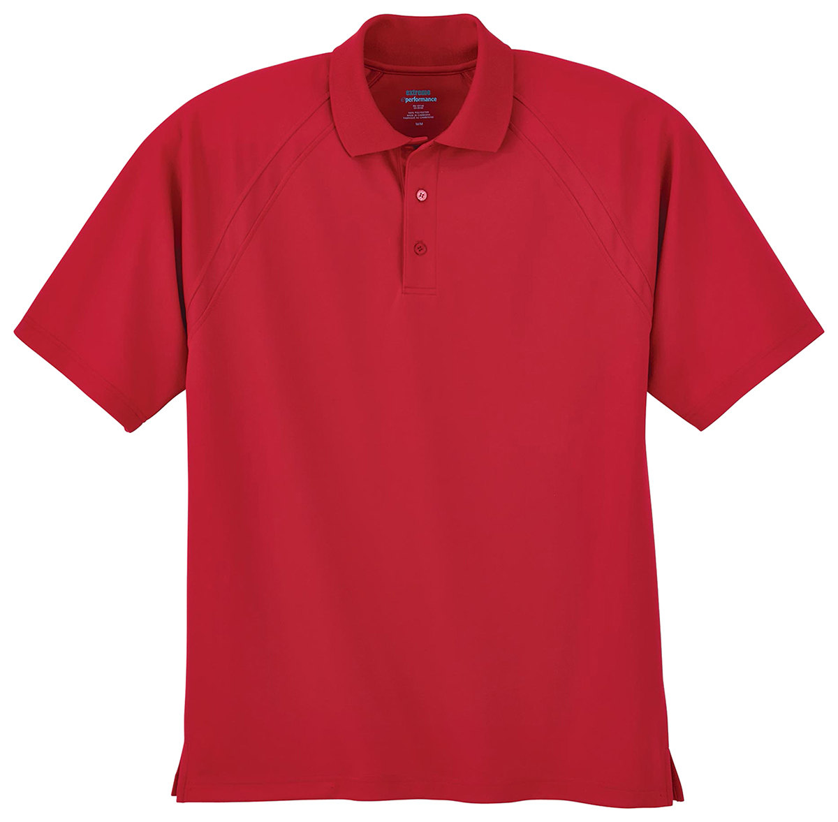 Extreme men 39 s moisture wicking polyester short sleeve polo for Polyester t shirts for men