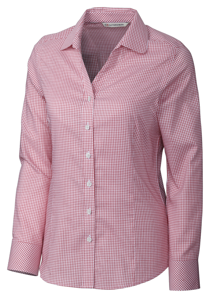 Cutter & Buck Women's Stylish Comfortable Easy Care Button