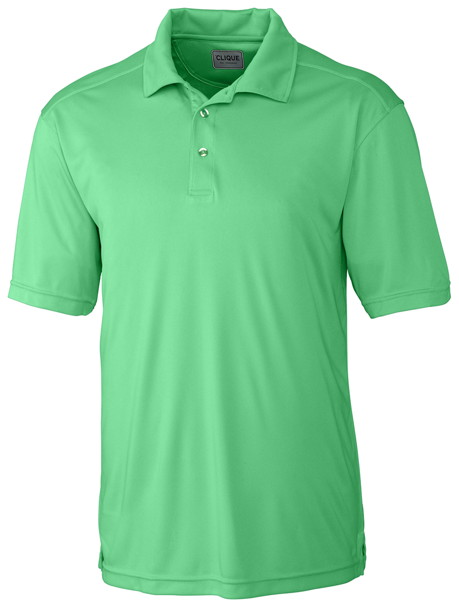 Clique men 39 s new polyester short sleeve moisture wicking for Men s polyester polo shirts