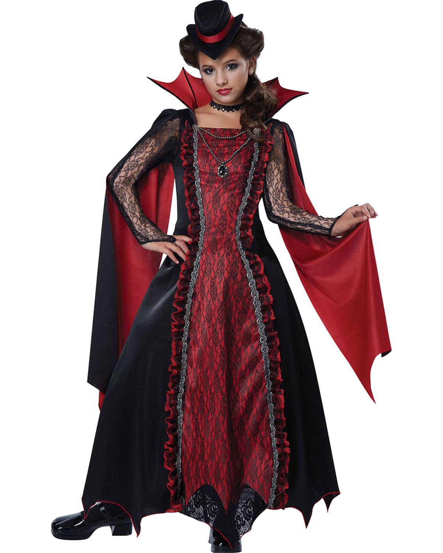 California Costumes Victorian Vampire Girl Kid Halloween ...