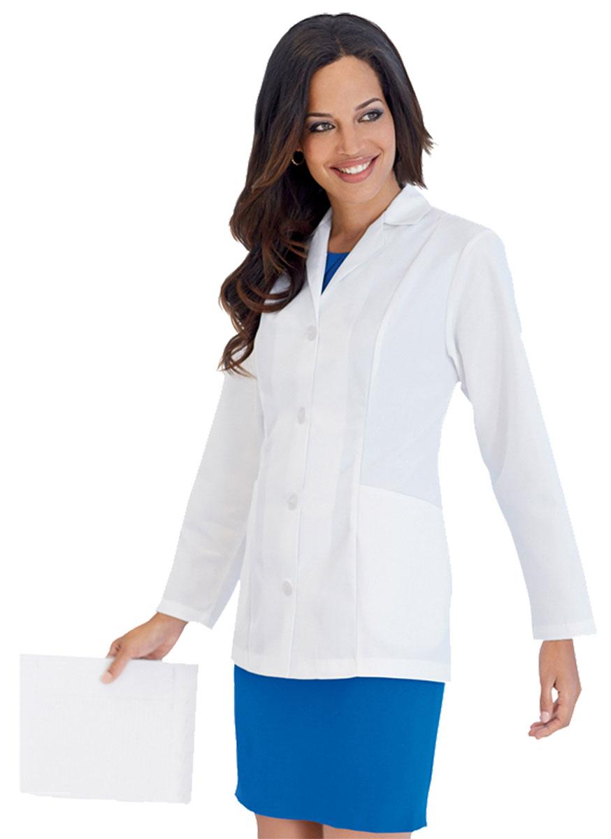 Landau Women's Long Sleeve Two Inset Pockets Four-Button ... - photo #8