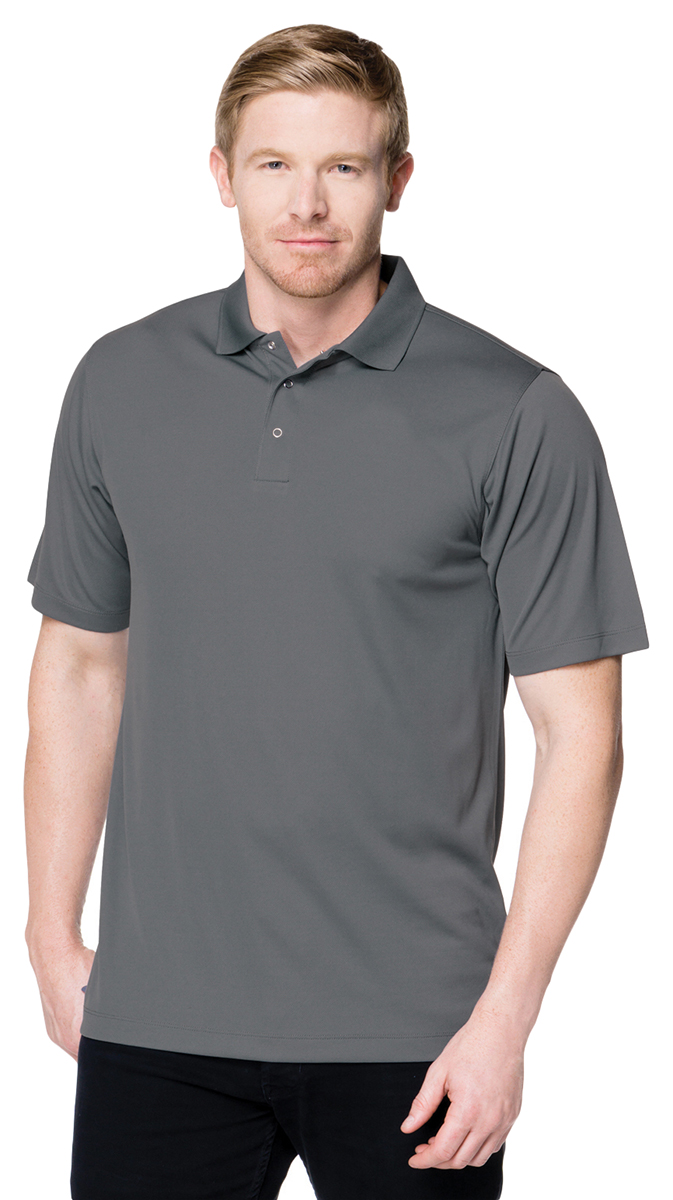 Tri mountain mens new short sleeve polyester chest pocket for Men s polo shirts with chest pocket