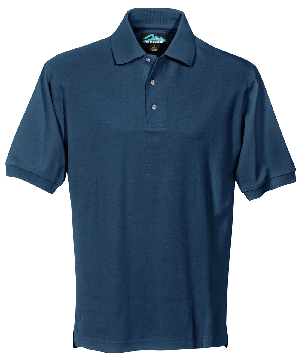 Tri mountain men 39 s big and tall short sleeve side vents for Big and tall golf shirts