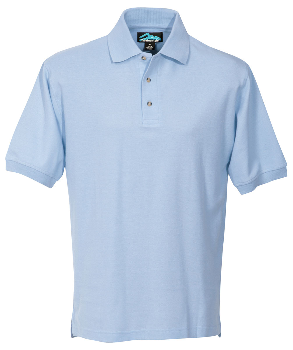 Tri mountain men 39 s big and tall short sleeve side vents for Large tall golf shirts
