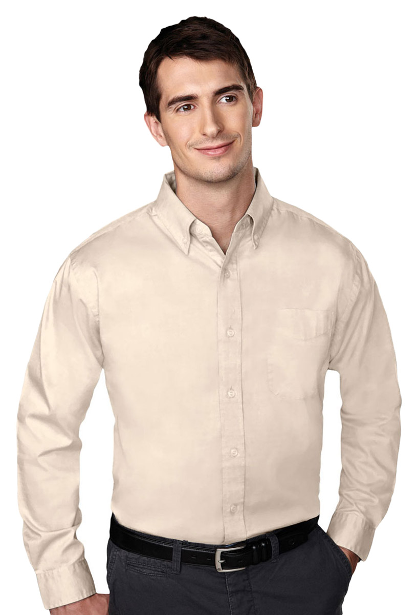 Tri mountain men 39 s big and tall wrinkle free pinpoint for Wrinkle free dress shirts amazon