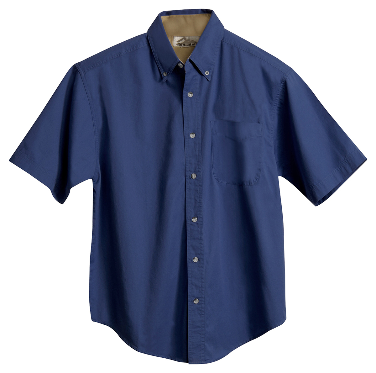 Tri mountain men 39 s big and tall short sleeve button down for Tall mens dress shirts