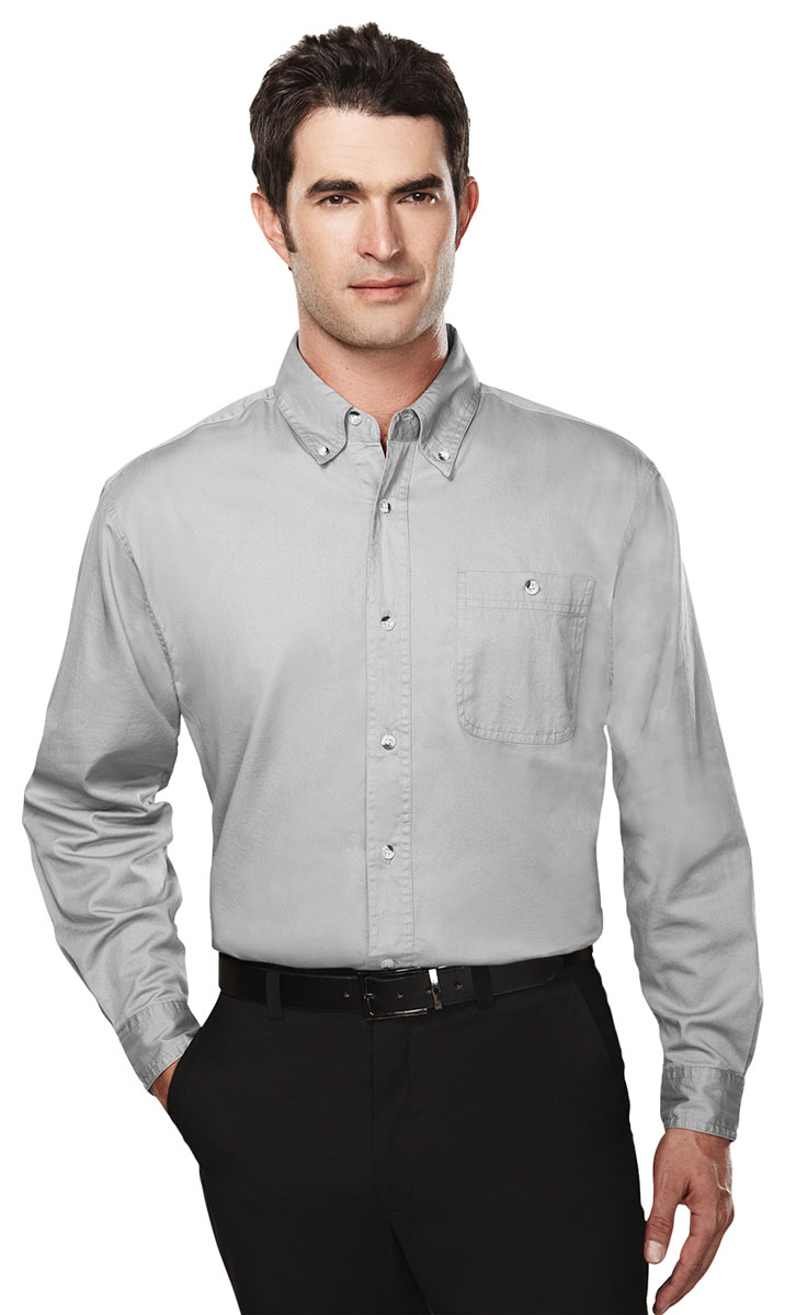 Tri mountain men 39 s big and tall button down collar twill for Tall mens dress shirts
