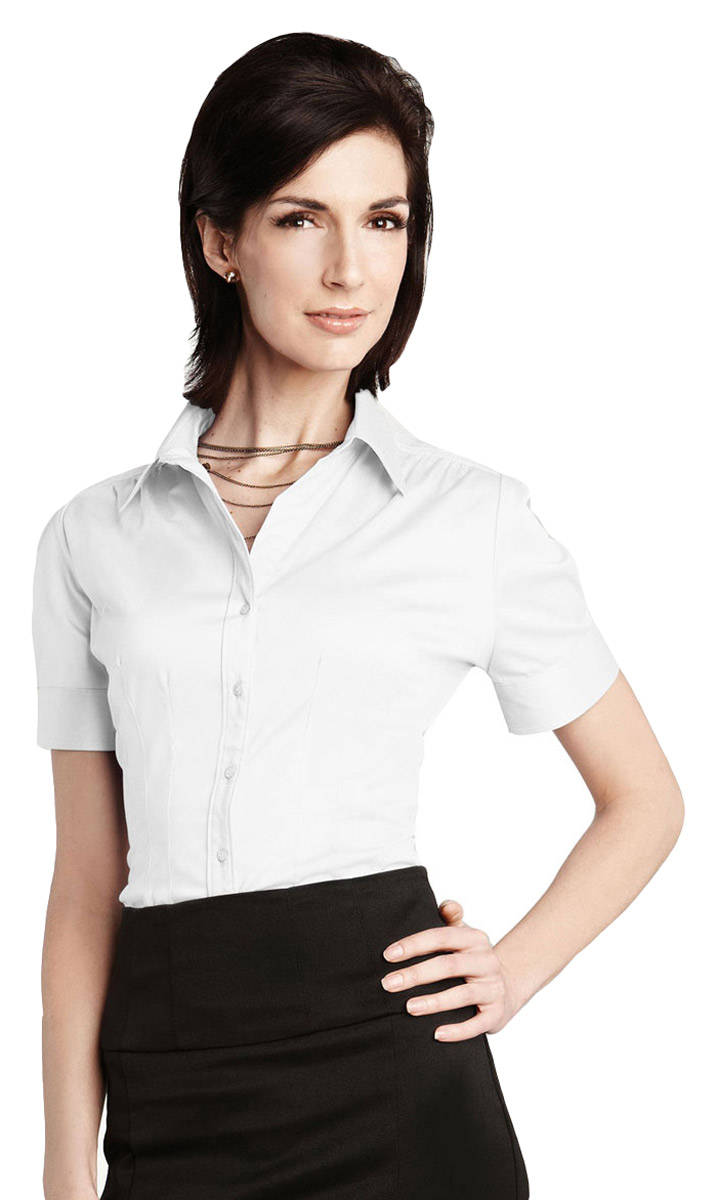 Tri Mountain Womens Front Pleat Short Sleeve Casual Woven Dress