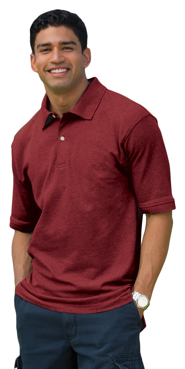 f7b8916d8c Details about Inner Harbor Men's Short Sleeve Fashion Collar Wood Button  Pique T-Shirt. 7001