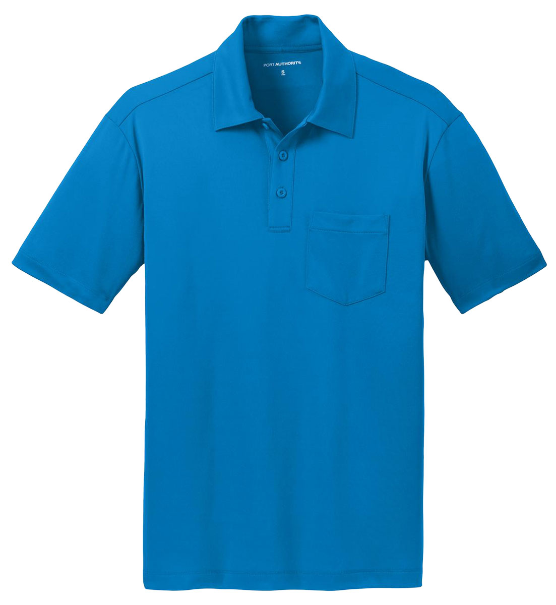 Port authority men 39 s polyester golf three button pocket for Men s polyester polo shirts