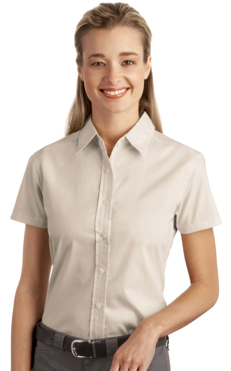 Port Authority Ladies New Easy Care Button Front Short