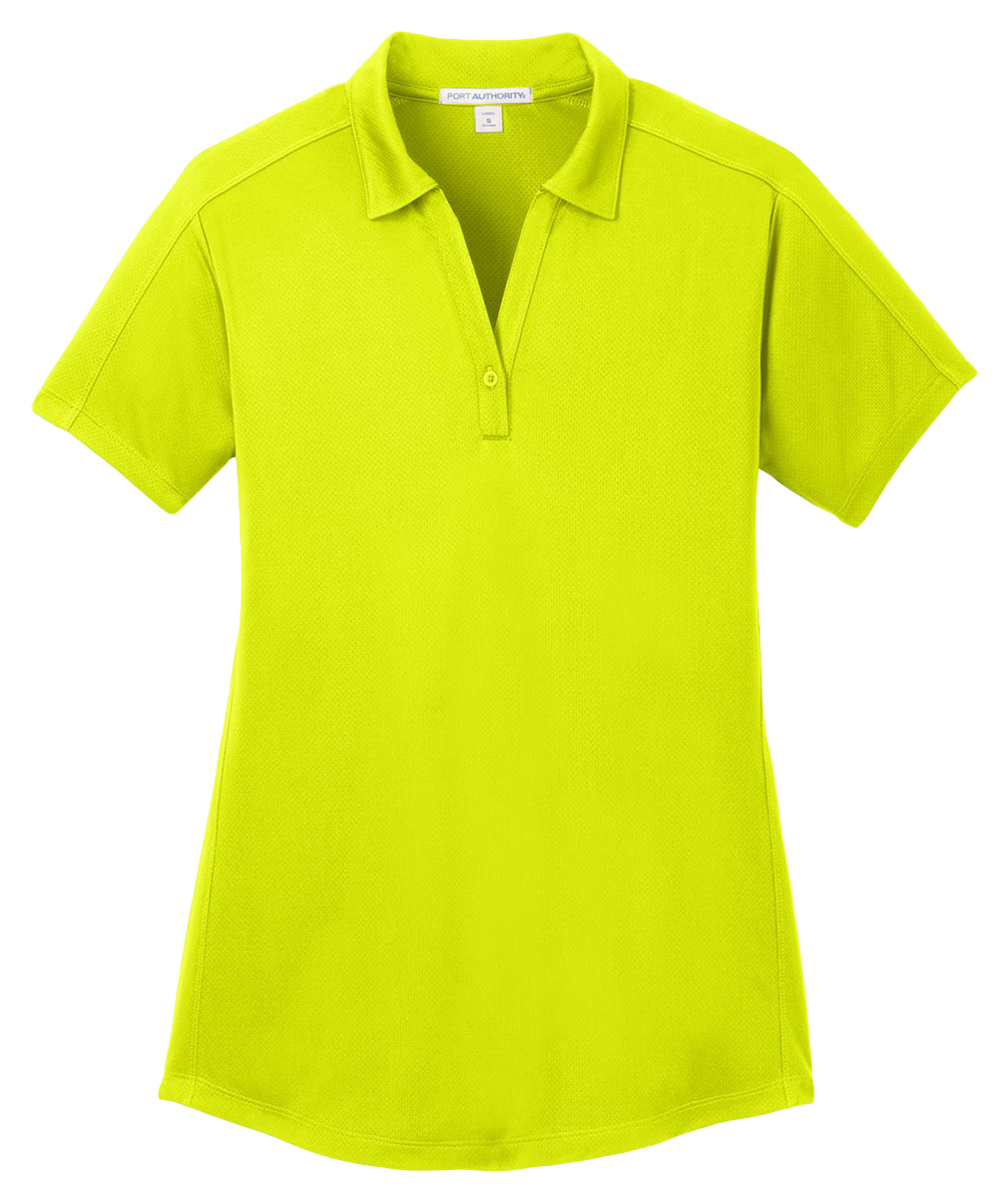 Port authority ladies short sleeve polyester moisture wick for Moisture wicking golf shirts