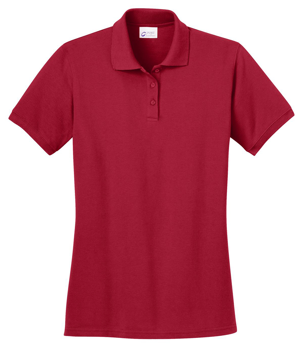 Port company women 39 s 100 cotton short sleeve golf polo for Ladies cotton golf shirts