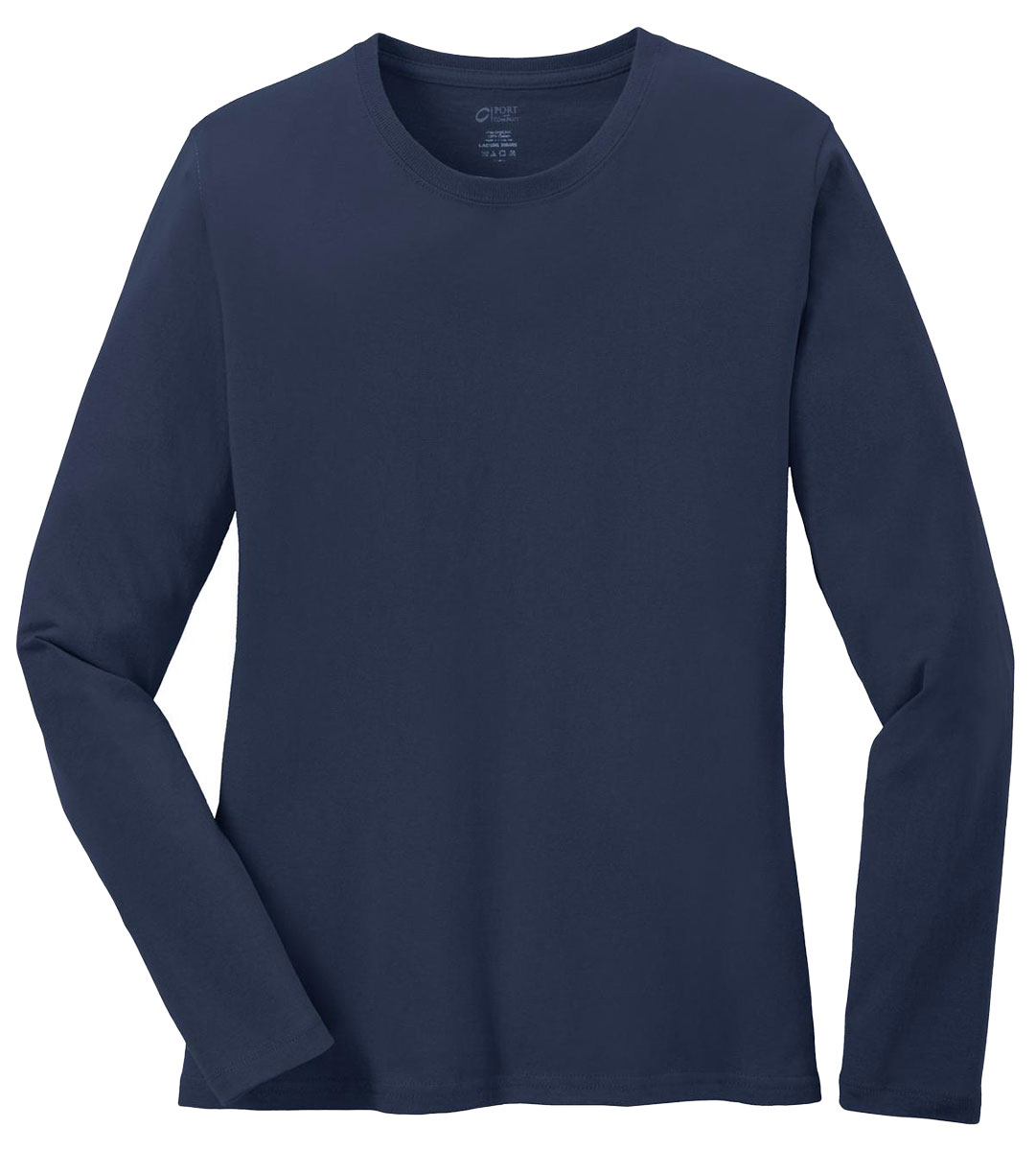 Port Company Women 39 S Long Sleeve 5 4 Oz 100 Cotton T