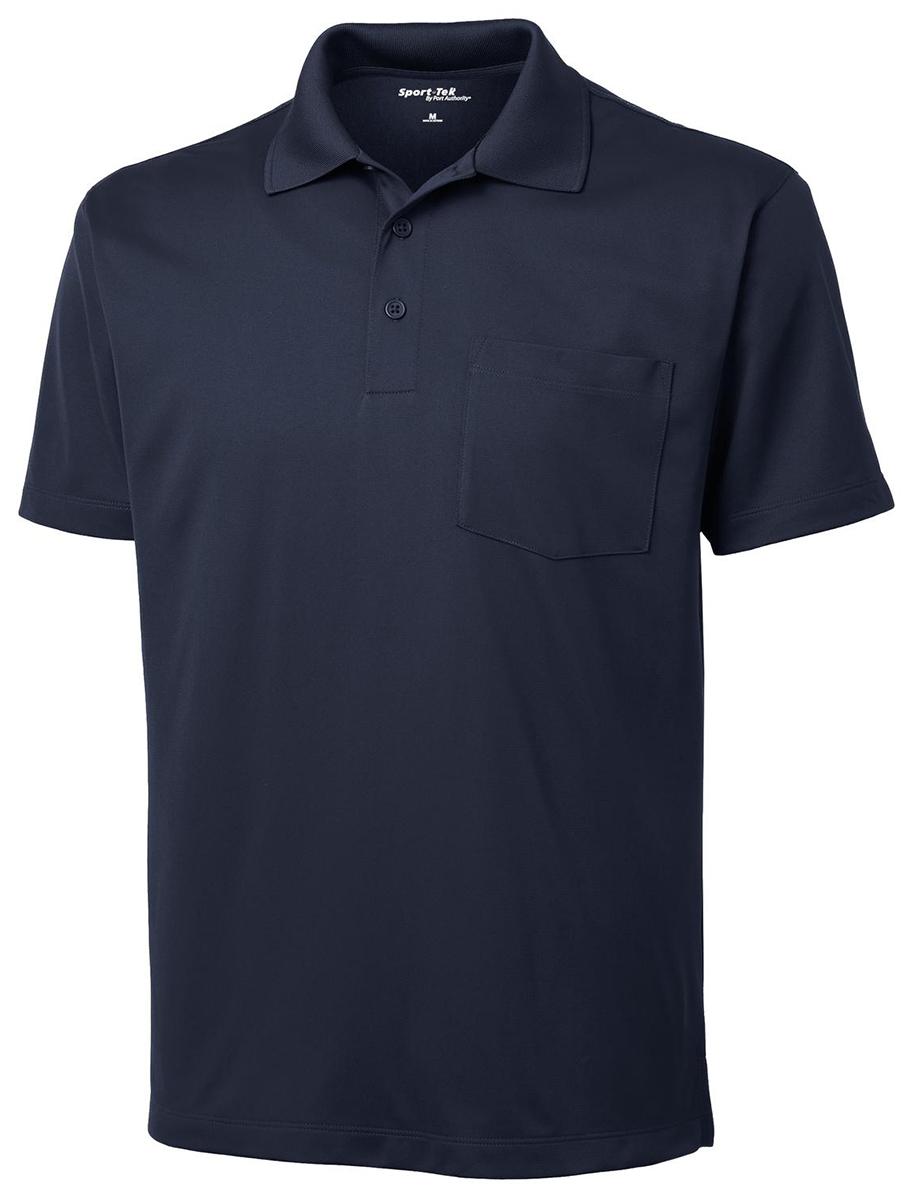 Sport tek men 39 s dri fit short sleeve pocket golf polo for Maroon dri fit polo shirt