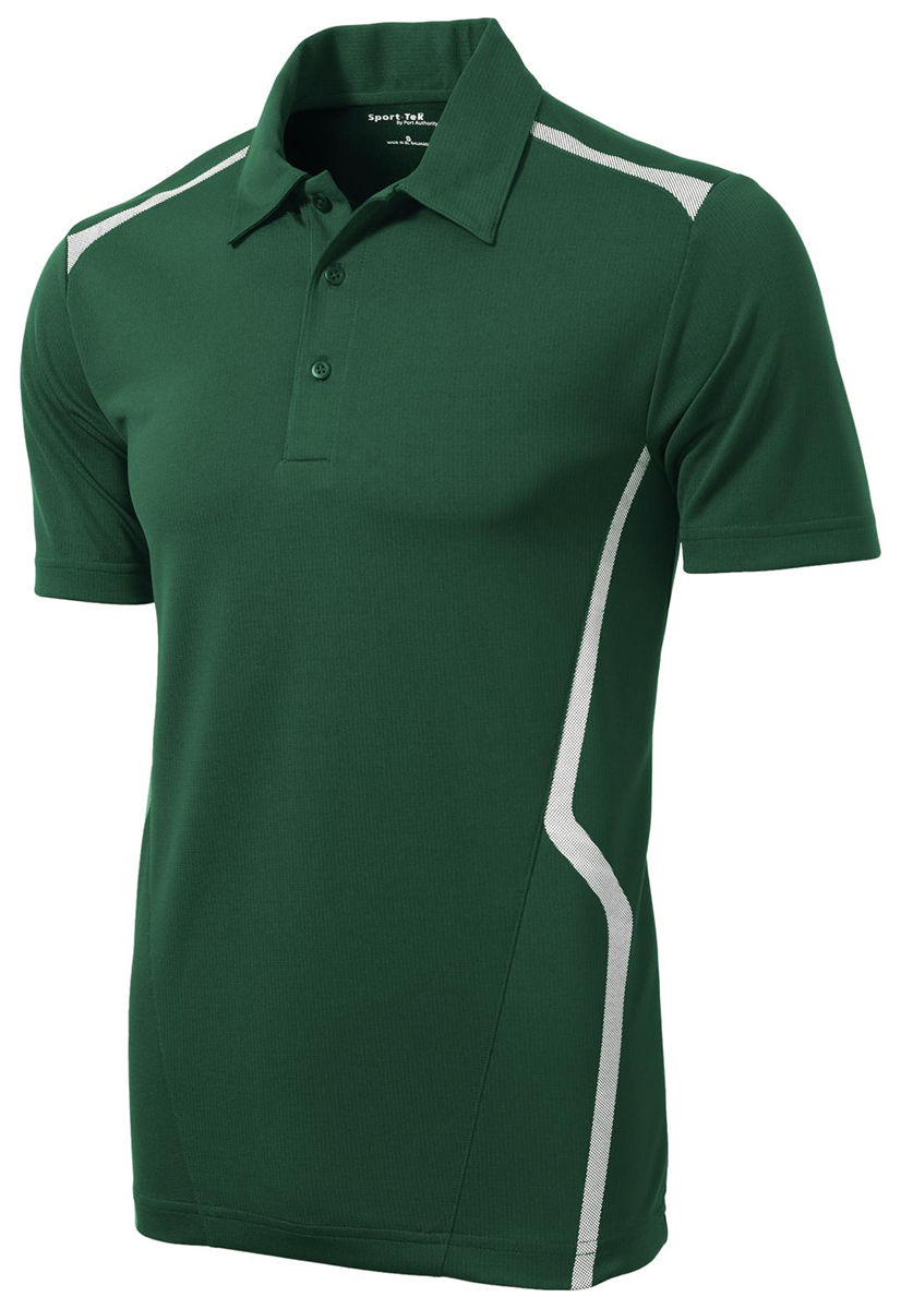 Sport tek men 39 s polyester three button placket golf polo for Mens xs golf shirts