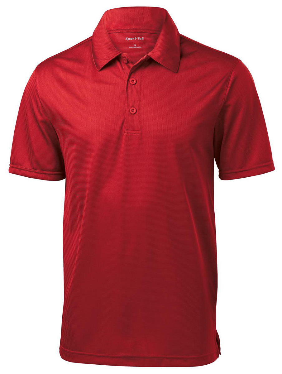 Sport tek men 39 s polyester short sleeve golf polo shirt xs for Mens xs golf shirts