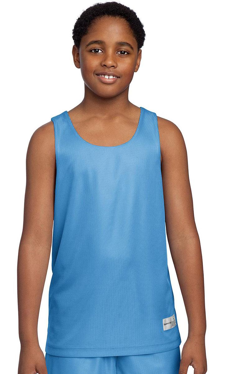 sport tek youth polyester sleeveless reversible tank top xs xl yt550 ebay. Black Bedroom Furniture Sets. Home Design Ideas